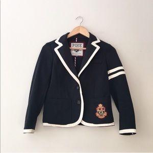 PINK Victoria's Secret Navy Preppy Varsity Jacket